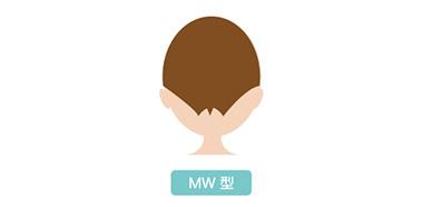 うなじMW型